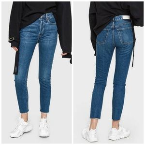 NEW Re/Done Originals High Rise Ankle Crop Jean